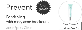 Prevent Acne growth for dealing with nasty acne breakouts.
