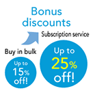Up Discount Rate Up Bulk Purchase Up to 15% OFF Up to 25% OFF