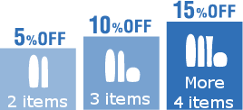 5% OFF product purchase2 items10% OFF product purchase3 items15% off product purchase4 itemsthat's all