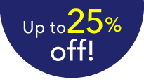 Up to25% off!